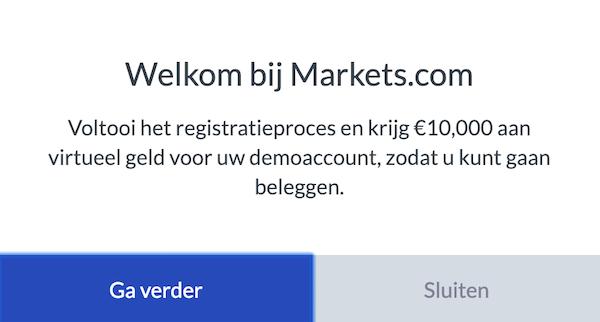 Welkom bij Markets