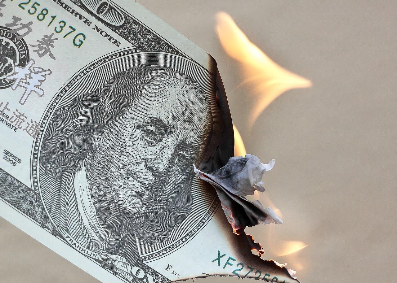 Geld verbranden