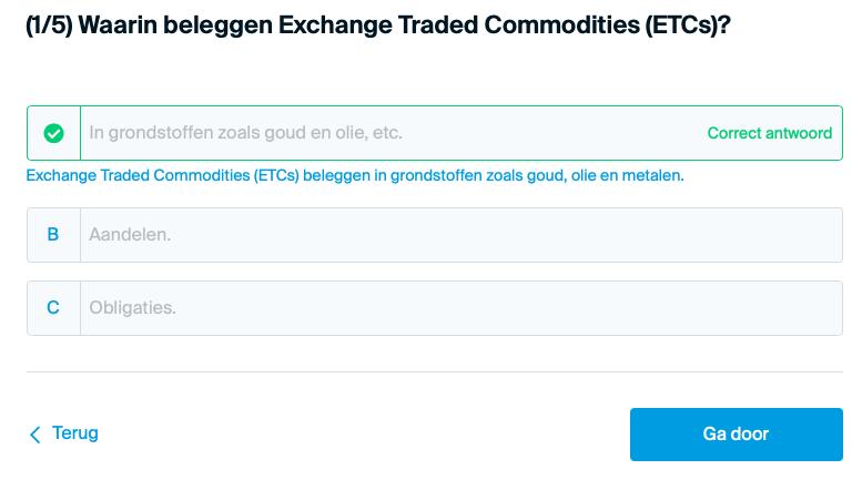 Waarin belegd een ETC?